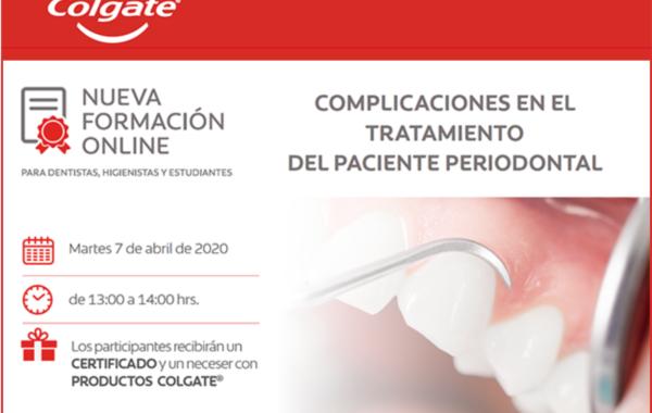 Webinar – Complicaciones en el tratamiento del paciente periodontal