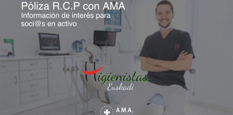 Póliza RCP de la Asociación Sindical de Higienistas Bucodentales de Euskadi con A.M.A.