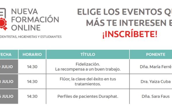 ¿Conoces las sesiones que tenemos preparadas? Te invitamos a participar en el mes de Julio a nuestros eventos digitales
